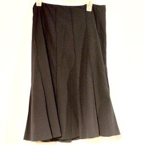 Talbots Black Midi Swing Stretch Skirt